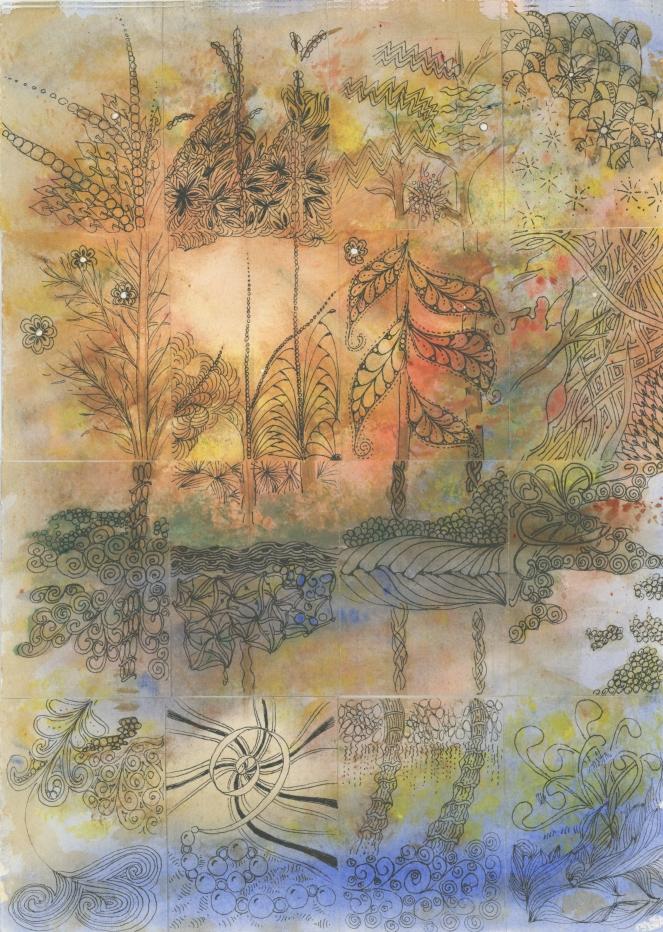tangled watercolor