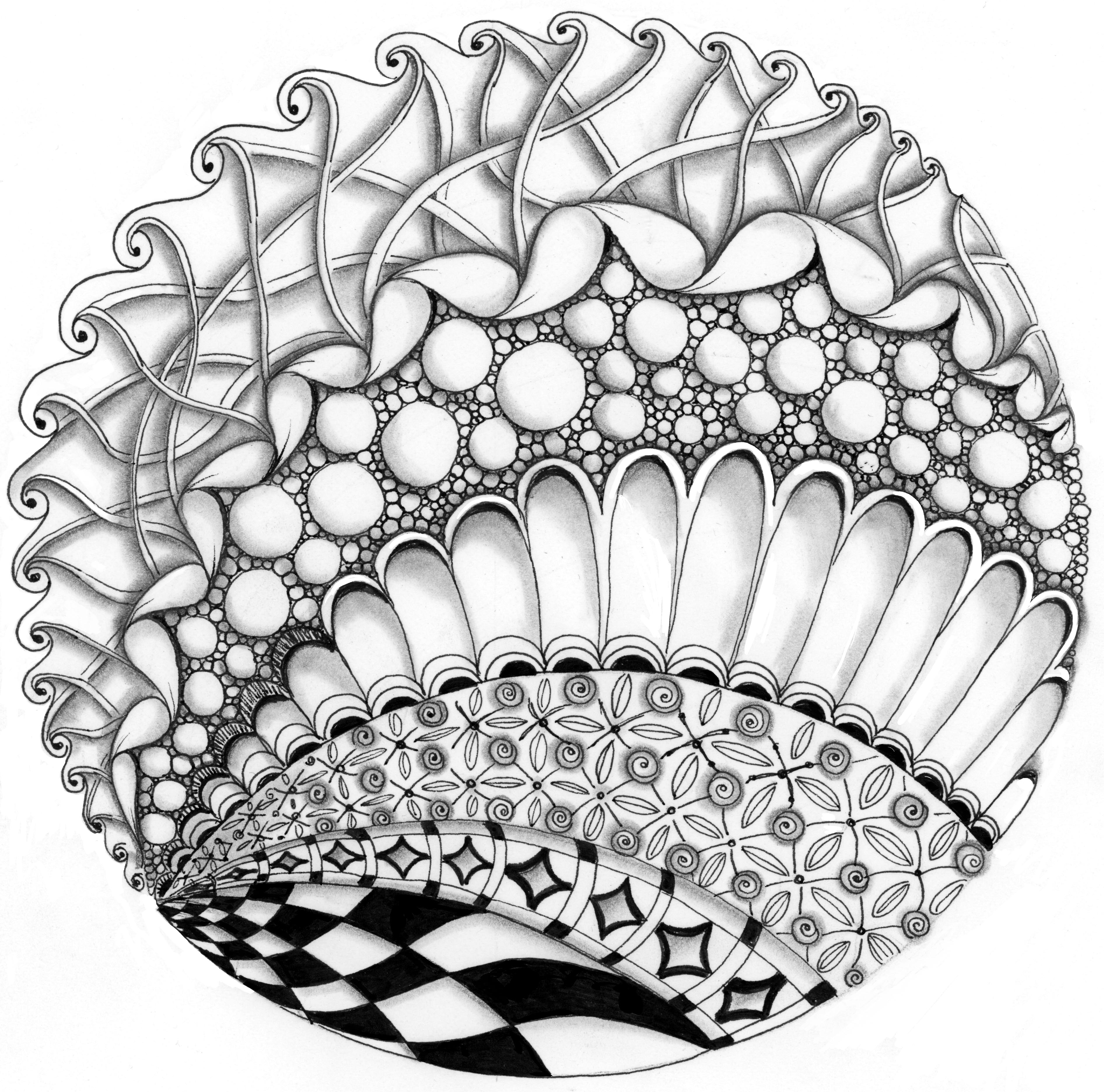 Zentangle Art Patterns Cool Decorating