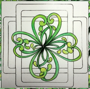 A simple shamrock composed of 4 Mooka pods.