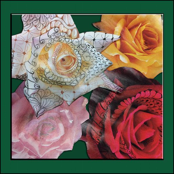 Rose patty collage