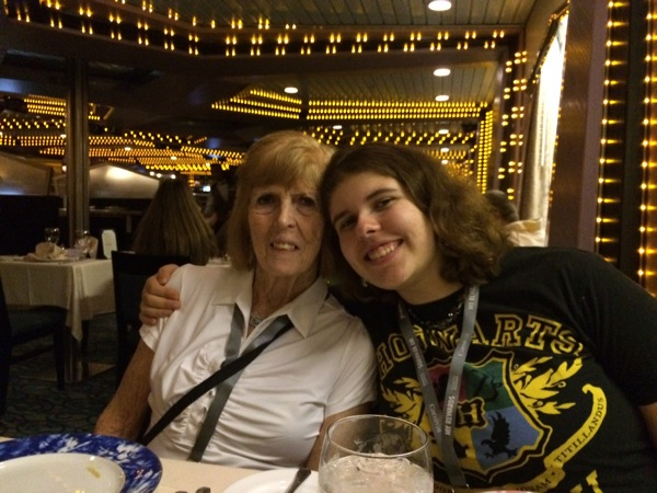 Mom and Alexa on the cruise