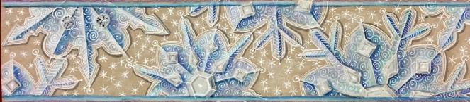 snowflake border on tan